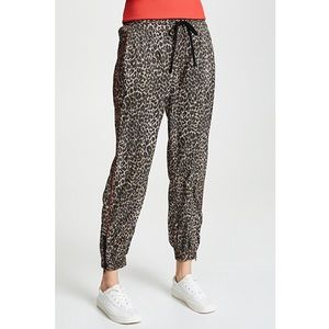 { pam & gela } leopard print nylon joggers NWOT